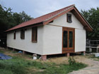 Straw bale bungalow nearing completion