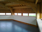 Inside the straw bale viewing hide
